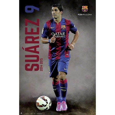Barcelona Suarez Poster
