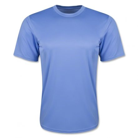 Moisture Wicking Poly T-Shirt Sky Blue