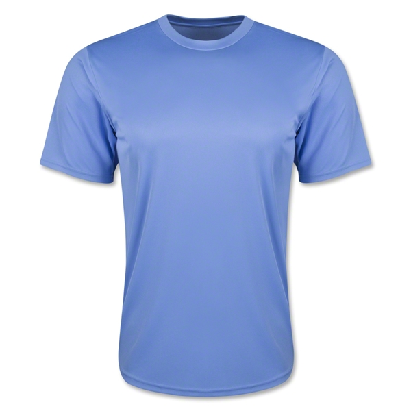 Moisture Wicking Poly T-Shirt Sky Blue