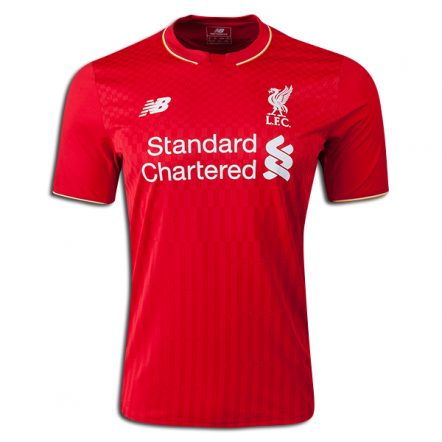 New Balance Liverpool Home Jersey 15/16