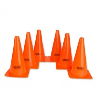 "9"" Field Cones (Orange) (Pack of 6)"
