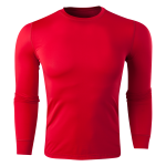 Team Compression Long Sleeve Base Layer (Red)