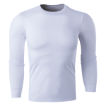 Team Compression Long Sleeve Base Layer (White)