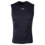 Under Armour Heatgear Compression Sleeveless T-Shirt (Black)