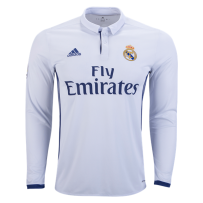 Adidas Real Madrid Long Sleeve Home Jersey 16/17