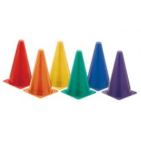 "9"" Field Cones (Multi Color) (Pack of 6)"
