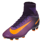 Nike Junior Mercurial Superfly V FG - Purple Dynasty/Bright Citrus/Hyper Grape