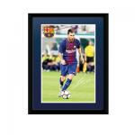 Barcelona Lionel Messi 8x6 Framed Poster 17/18
