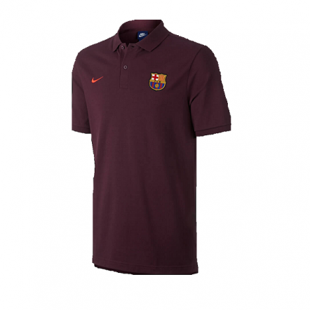 Nike FC Barcelona 17/18 NSW Authentic Polo (Maroon/Hyper Crimson)