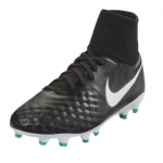 Nike Junior Magista Onda II DF FG - Black/White/Dark Grey/Metallic Silver
