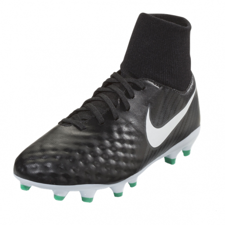 Nike Junior Magista Onda II DF FG - Black/White/Dark Grey/Metallic Silver