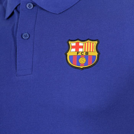 b119de4ab Nike FC Barcelona 17/18 NSW Polo Shirt - Deep Royal Blue/Noble Red ...